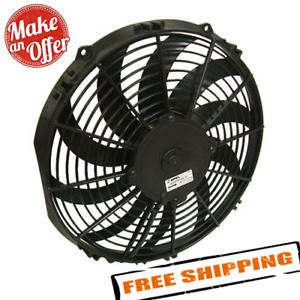 Spal 30100467 12 Low Profile Puller Electric Fan With Curved Blades