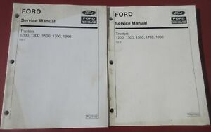 Ford New Holland 1200 1300 1500 1700 1900 Tractor Service Manual Volume 1 2