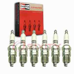 6 Pc Champion Platinum Spark Plugs For 1970 1974 Checker A11 4 1l L6 Jw