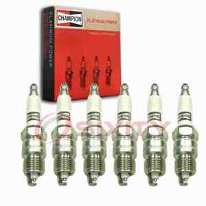 6 Pc Champion Platinum Spark Plugs For 1970 1982 Checker Marathon 3 8l 4 1l Zt