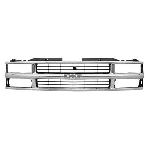 Chrome Grille For Chevy Blazer Pickup Suburban Tahoe Gm1200238