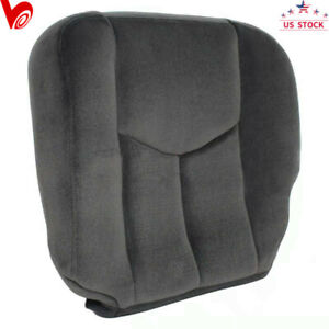 Gray Driver Side Bottom Cloth Seat Cover For 2003 2007 Gmc Sierra 1500 2500 Sle