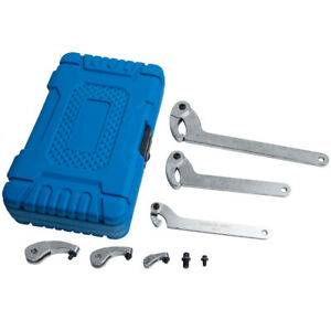 Hook Spanners Pin Wrench Adjust Lock Nut Rings Bearings Tool Kit