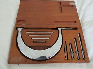 Tumico Tubular Micrometer Co M 06 3442 Complete 10pc Set In Case