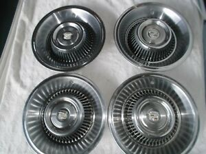 1963 1964 Cadillac Factory Wheelcovers Hubcaps set Of 4 Nice Used