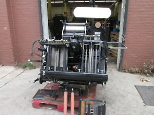 Heidelberg Windmill Come With 4 Numbering Head Score And Perf Printing Press