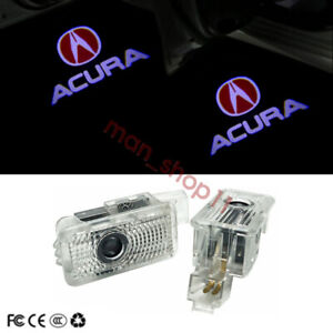 Car Door Led Lights Red Logo Projector Ghost Shadow For Acura Mdx Zdx Tlx Rlx Tl