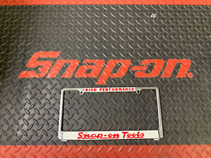Restored Vintage Snap On Tools Advertising License Plate Frame High Performance