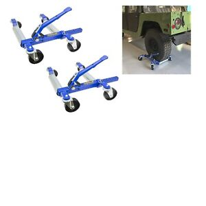 1500 Lb 12 5 Wheel Car Positioning Dolly With Ratcheting Foot Pedal 2 Pack