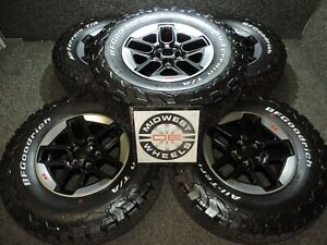 2021 Wrangler Rubicon 17 Black Wheels Tires Bfg At Ta Ko2 Lt285 70r17 Jk Jl