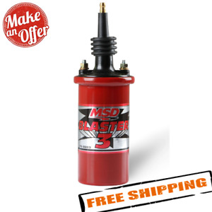 Msd 8223 Red Blaster 3 Canister Ignition Coil For Distributor Ignition
