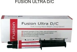 Dental Prevest Fusion Ultra D c Dual Cure Resin Luting Cement Fs