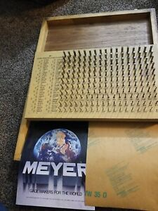Meyer Gage Makers Model M 1 Minus 061 To 250 Class Z Pins Plug Gage Set
