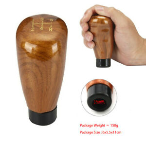 New 1x 5 Speed Peach Wood Color Universal Manual Gear Shift Knob Shifter Lever