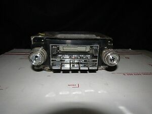 Delco Cassette Radio Vintage Push button Shaft Mount Untested As is