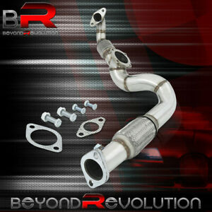 For 1994 2001 Integra B Series Motor Stainless T3 Turbo Down Pipe Exhaust Flex