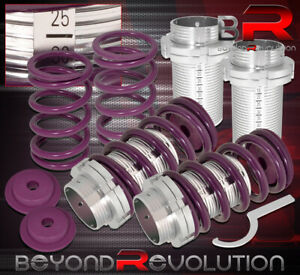 For 93 97 Corolla Adjustable Lowering Spring Coilover Sleeve Racing Drift Purple
