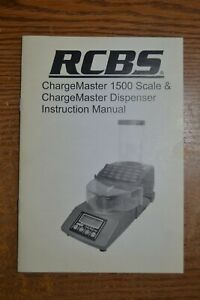 RCBS CHARGEMASTER 1500 SCALE MANUAL ONLY $5.00