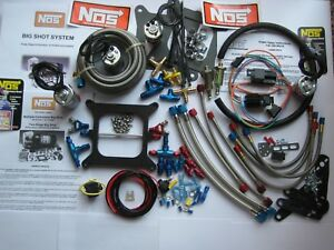 Mr Big new Nos 2 Stage Bigshot Holley 4500 Dominator Nitrous Plate Kit 475hp