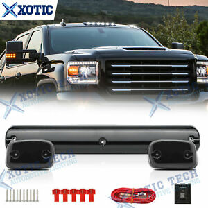 White Led Cab Roof Marker Top Lights 3x For Chevrolet Silverado 1500 2500 3500