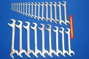 Huge 28 Pc Snap on Sae Four way Angle Head Open end Wrench Set 1 4 2 Vs828a