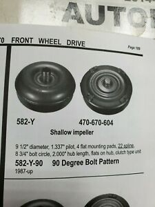 Chrysler And Dodge 582y Front Wheel Drive Torque Converter 413 670 A604