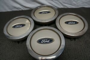 2003 2006 Ford Expedition Oem Wheel Center Hub Caps 2l14 1a096 bb Set 4 Beige