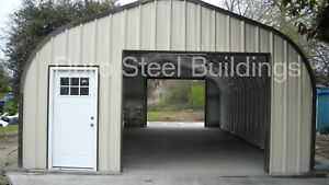 Durospan Steel 30 x20 x14 Metal Diy Home Building Shop Open Ends Factory Direct