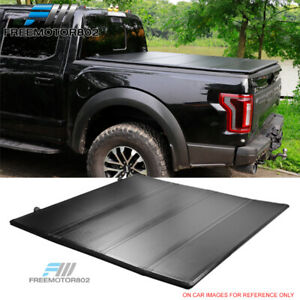 Fits 09 21 Dodge Ram 5 5ft Bed Hard Quad Fold Style Trunk Tonneau Cover Frp