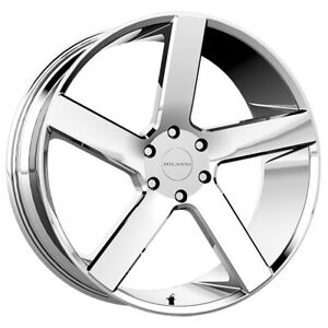 4 milanni 472 Switchback 22x9 5 6x135 30mm Chrome Wheels Rims 22 Inch