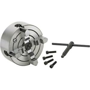 Grizzly G9865 6 4 jaw Plain Back Independent Chuck