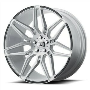 4 Staggered Asanti Abl 11 22x9 10 5 5x114 3 32 35 Brushed Silver Carbon Fiber