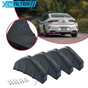 Rear Bumper Lower Lip Shark Wings Fins Black Spoiler Diffuser For Acura Tsx Tlx