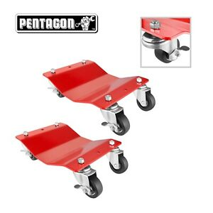 Pentagon Tool Commercial Grade 2 pack Tire Dolly Tire Skates Red
