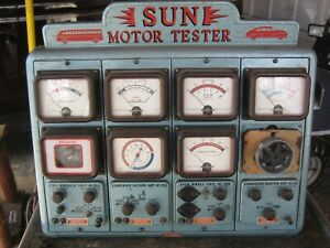 Vintage Sun Master Motor Tester With Cabinet Engine Analyzer