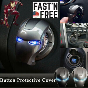 Iron Man Car Trim Interior Engine Ignition Start Stop Push Button Switch Cover