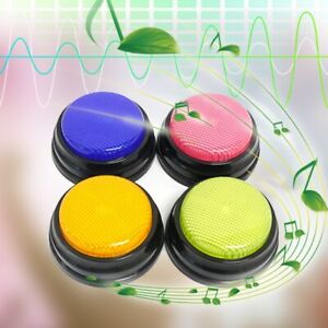 4pcs Recordable Talking Button With Led Function Learning Answer Buzzers