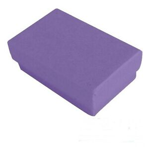 100 Purple Matte Cotton Filled Jewelry Packaging Gift Boxes 2 5 8 X 1 1 2 X 1
