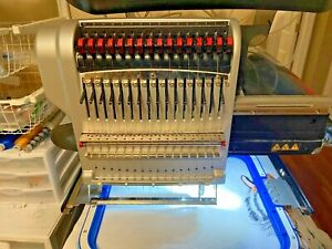 Melco Bravo Commercial 16 Needle Embroidery Machine dec 2016