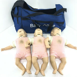 3 Laerdal Little Anne Infant Baby Cpr Training Manikin Emt First Aid W Bag