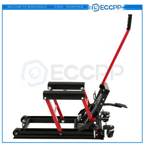 Eccpp Motorcycle Atv Jack Lift Stand Quad Dirt Street Bike Hoist 1500 Lbs New