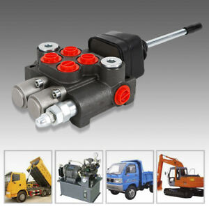 2 Spool Hydraulic Control Valve Tractors Loaders Directional Control Valve 11gpm