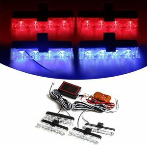 Car16 Led Flashing Grille Light Police Strobe Dash Emergency Warning Lamp Trucks