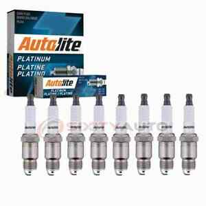 8 Pc Autolite Platinum Spark Plugs For 1971 1974 Checker Taxicab 5 7l V8 Pv