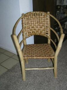 Rare Old Hickory Furn Co Indiana Hooped Arm Child S Chair Stamped