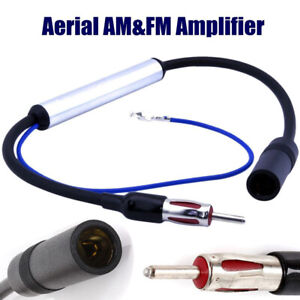 Car Stereo Fm Am Radio Signal Antenna Aerial Signal Amp Amplifier Booster Auto