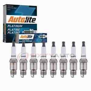 8 Pc Autolite Platinum Spark Plugs For 1970 1971 Pontiac Acadian 5 0l 6 6l Or