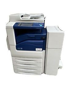 Xerox Workcentre 7225 Color Copier Printer Scanner 25ppm With Finisher