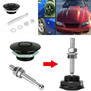 Quick Release Hood Bonnet Pins Lock Clip Push Button Car Bumper Latch Kit Usa
