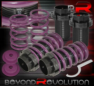 93 00 Corolla Height Adjustable Lowering Coilover Spring Scale Sleeve Purple